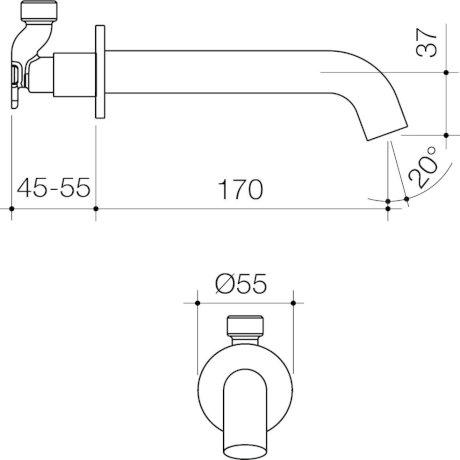 CAEL0030GM6A_-_Elvire_Basin_Outlet_170mm_-_Gunmetal_1[1].jpg